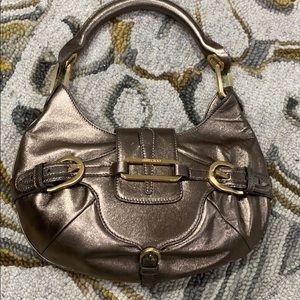 💕 Jimmy choo bronze metallic leather satchel 💕